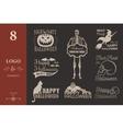 halloween badges set vector image vector image