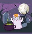 halloween ghost cartoons vector image vector image