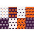 halloween seamless pattern collection vector image vector image