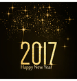 Happy New Year 2017 gold glitter vector image vector image