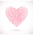 heart-pink-light vector image vector image