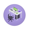 Isometric accountant workplace vector image vector image