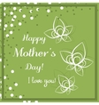 Leaves Mothers Day Green vector image vector image