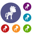 little pony icons set