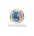 louisiana usa symbol map icon round flat art vector image vector image