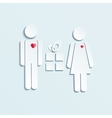 man and woman give gifts vector image