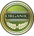 organic gold label vector image vector image