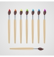 Paint brushes set vector image vector image