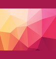 pink yellow low poly background vector image vector image