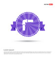 pipe icon - purple ribbon banner vector image