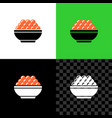 red caviar serving in a small bowl simple icon vector image vector image