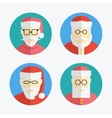 Santa Claus avatar Flat icons collection vector image