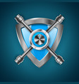 security guard shield - 3d realistic icon vector image