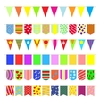 Set garlands of colored flags vector image vector image