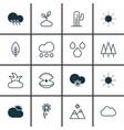 set of 16 ecology icons includes raindrop vector image vector image