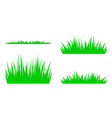 set of silhouettes of green grass vector image
