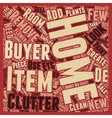 Seven Steps to De Clutter Your Home for Sale text vector image vector image