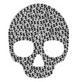 skull composition of dollar and dots vector image vector image