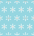 smiling snowflakes characters seamless pattern vector image