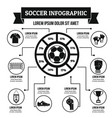soccer infographic concept simple style vector image vector image