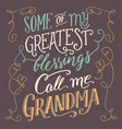 some of my greatest blessings call me grandma vector image vector image
