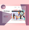 strategy website landing page design vector image vector image