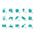 stylized dairy products - food and drink icons vector image vector image