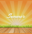summer background with text - with retro vector image vector image