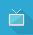 tv icon set of great flat icons with style long vector image vector image