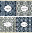 vintage seamless patterns with frame set vector image