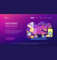 web design development concept vector image vector image