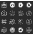 White beer labels or badges set - logos for design vector image