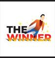 winner flying vector image vector image