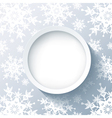 Winter 3d background with decorative snowflakes vector image vector image
