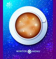 winter menu concept design vector image
