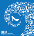 woman shoes icon sign Nice set of beautiful icons vector image
