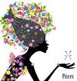 Zodiac sign pisces fashion girl vector image vector image
