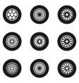 car tyre set vector image