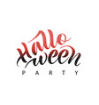 halloween party text vector image