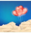 Heart Balloon in Cloudscape vector image