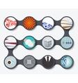 modern set of business backgrounds vector image