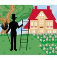 chimney sweeper at work vector image
