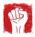 grunge fist symbol vector image