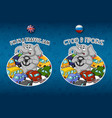 sticker elephant traffic jam lot of cars vector image