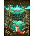 The fox near a pond vector image