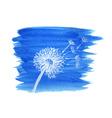 Watercolor graphic dandelion vector image