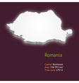 3d map of Romania vector image