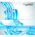 Abstract Glowing Waves vector image