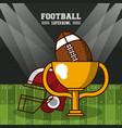 american football superbowl vector image vector image