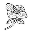baby blue eye flower floral hand drawn design sign vector image vector image